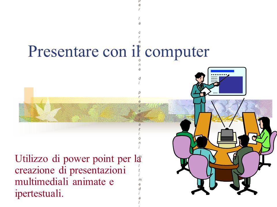Presentare con il computer