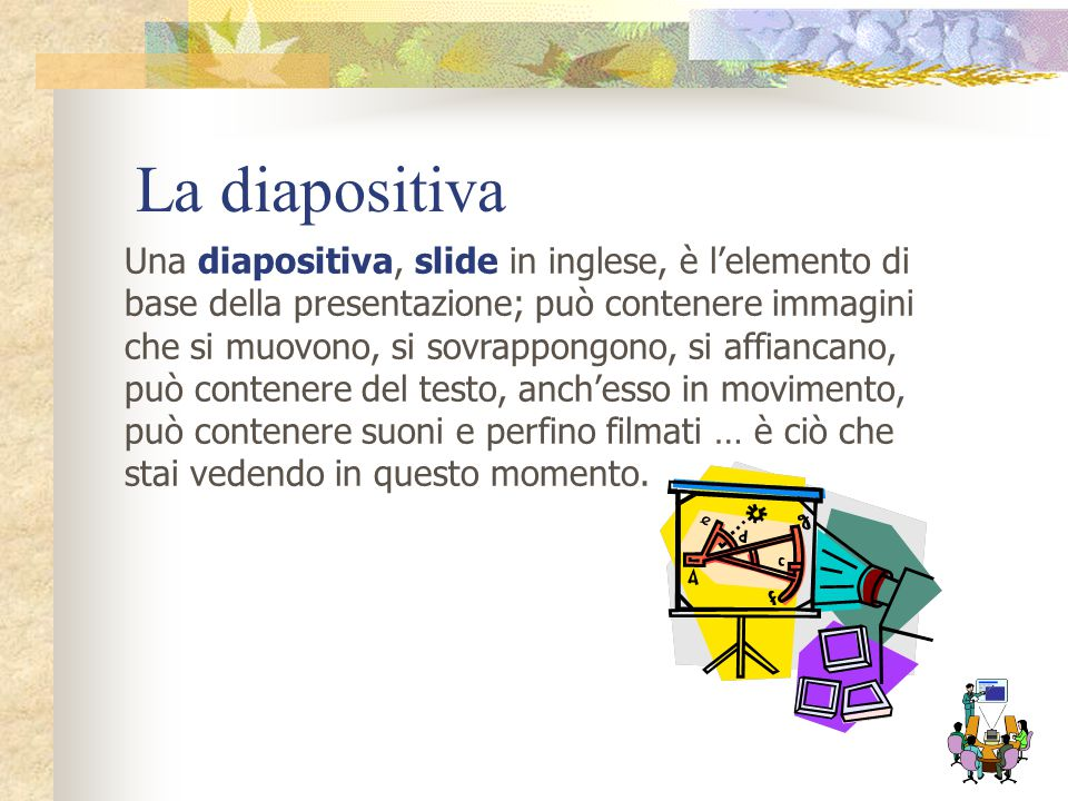 La diapositiva