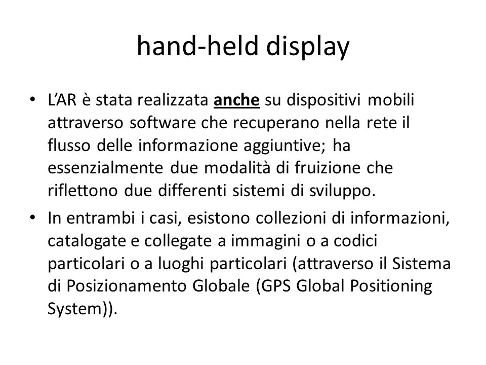 hand-held display