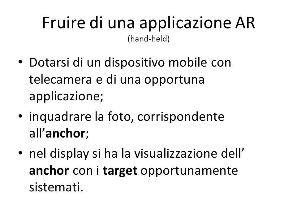 Fruire di una applicazione AR (hand-held)