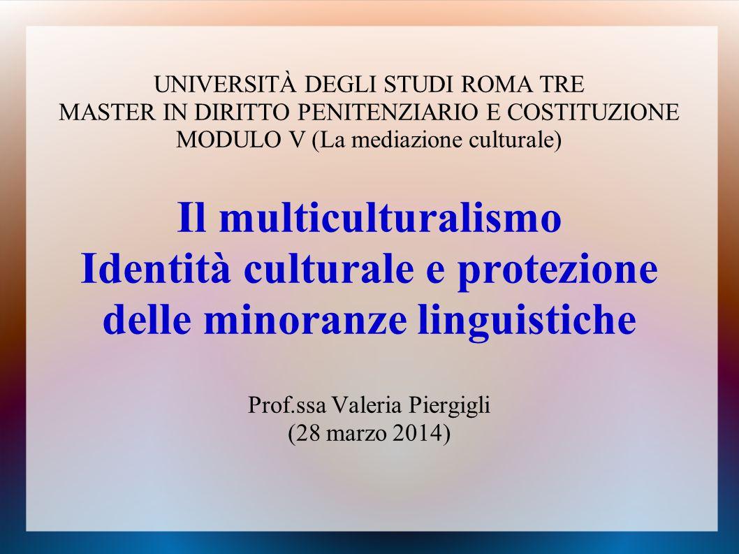 Identità culturale e protezione delle minoranze linguistiche