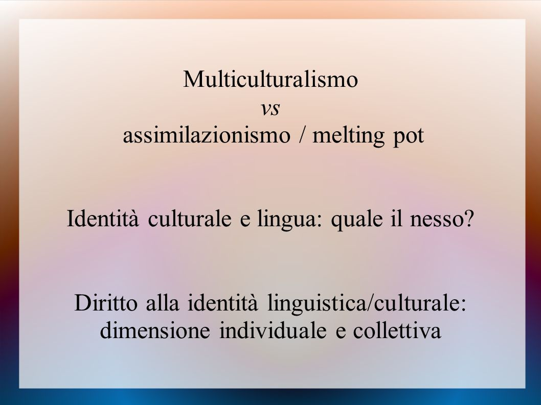 assimilazionismo / melting pot
