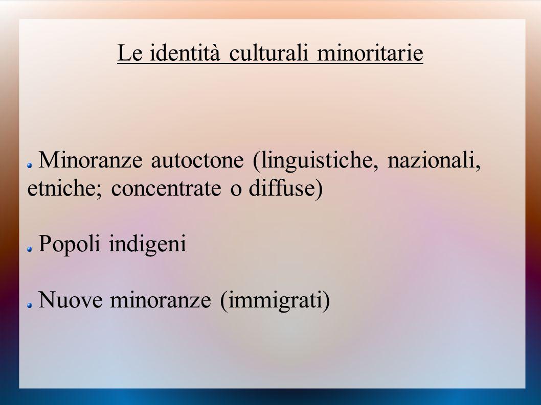 Le identità culturali minoritarie