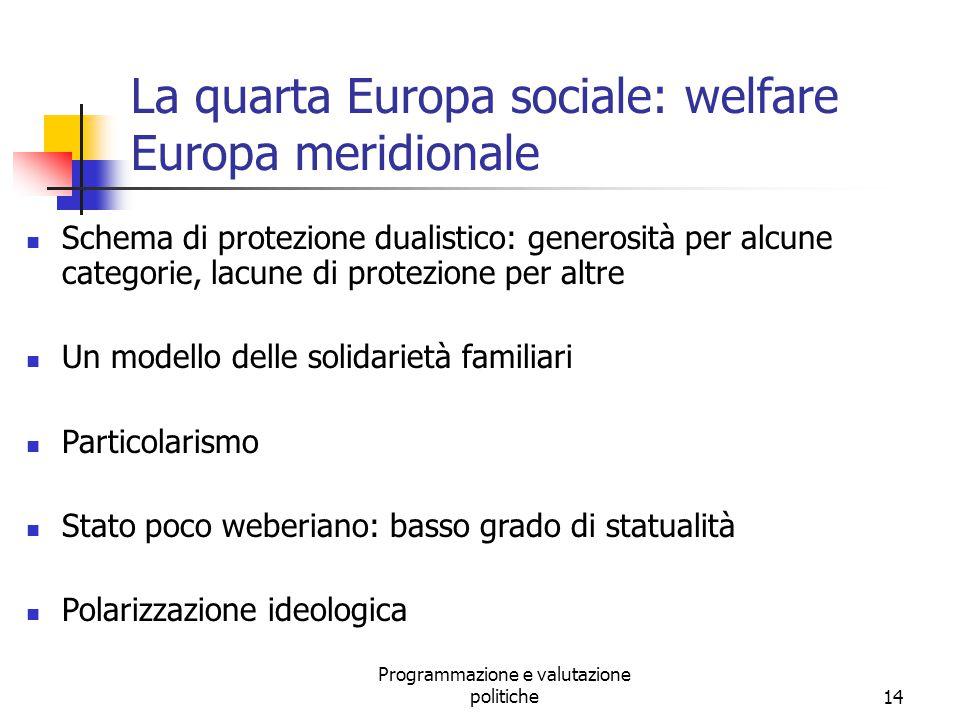 La quarta Europa sociale: welfare Europa meridionale