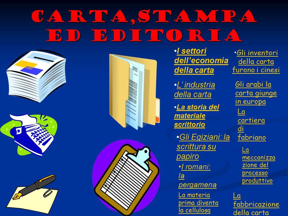 Carta,stampa ed editoria