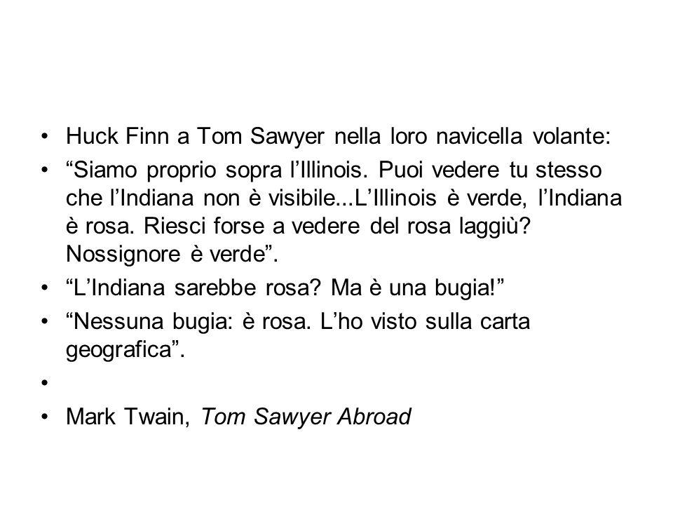 Huck Finn a Tom Sawyer nella loro navicella volante: