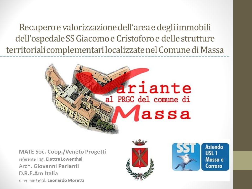 Recupero e valorizzazione dell'area e degli immobili dell'ospedale SS Giacomo e Cristoforo e delle strutture territoriali complementari localizzate nel Comune di Massa
