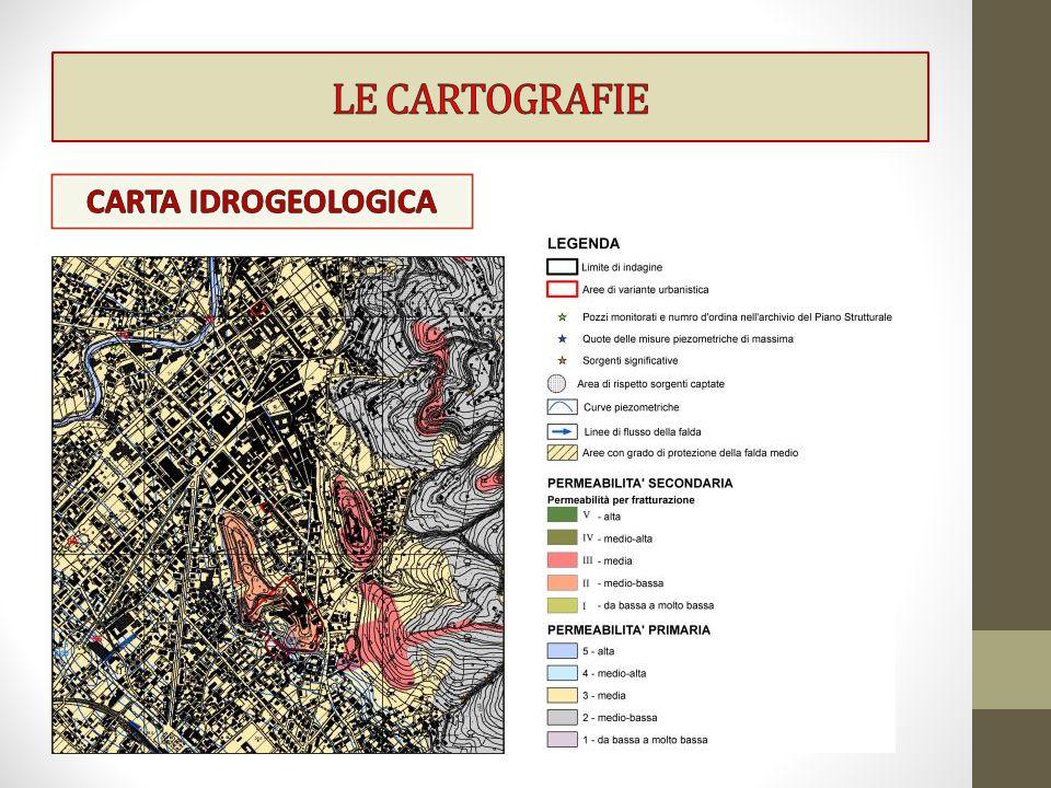 LE CARTOGRAFIE CARTA IDROGEOLOGICA