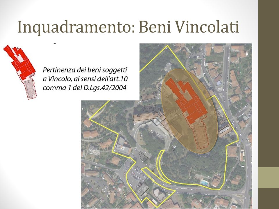 Inquadramento: Beni Vincolati