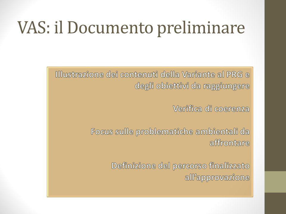 VAS: il Documento preliminare