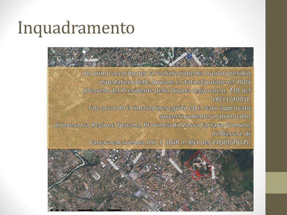 Inquadramento Un primo accordo per la realizzazione del nuovo presidio ospedaliero delle Apuane è stato stipulato nel 2005.