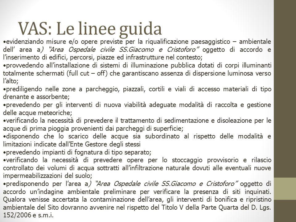 VAS: Le linee guida