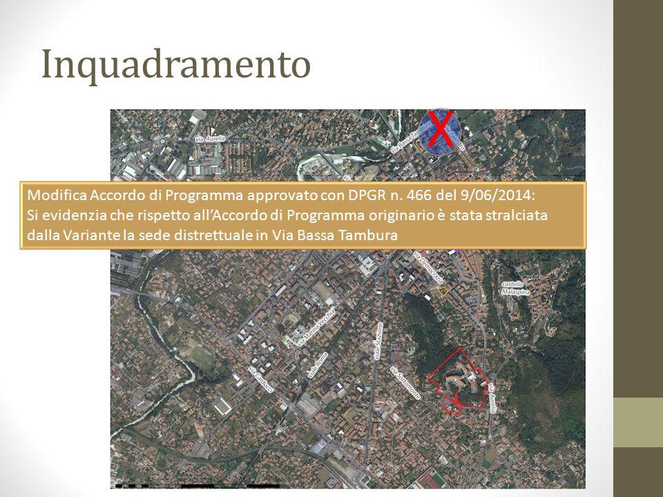 Inquadramento X. Modifica Accordo di Programma approvato con DPGR n. 466 del 9/06/2014: