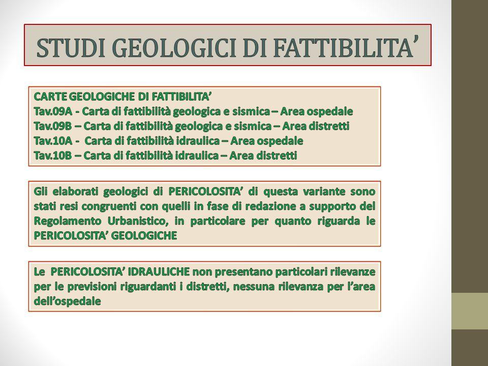 STUDI GEOLOGICI DI FATTIBILITA'