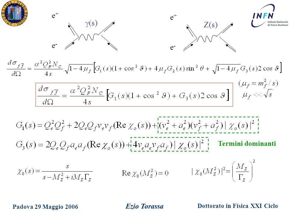 e+ e+ e- e- Termini dominanti Ezio Torassa Padova 29 Maggio 2006 g(s)