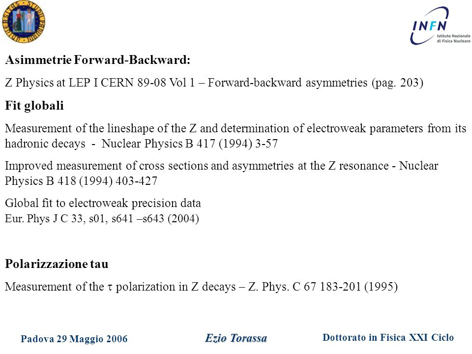 Asimmetrie Forward-Backward: Fit globali
