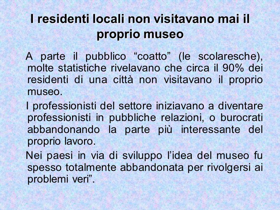 I residenti locali non visitavano mai il proprio museo