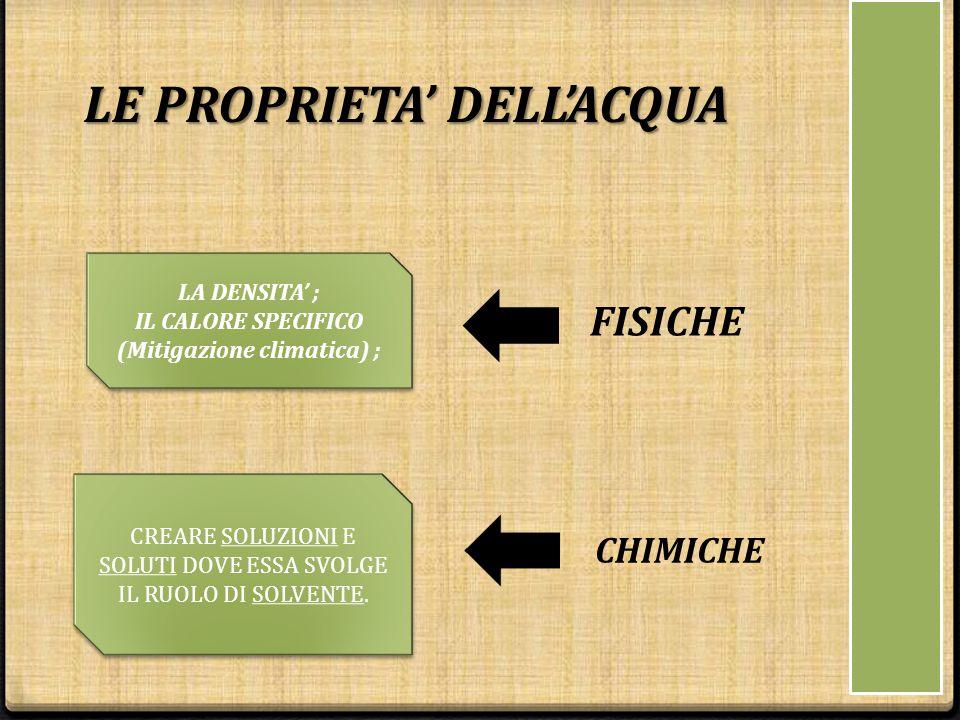 IL CALORE SPECIFICO (Mitigazione climatica) ;