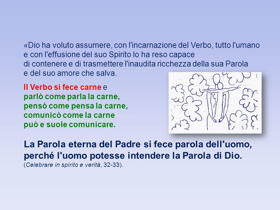 La Parola eterna del Padre si fece parola dell uomo,