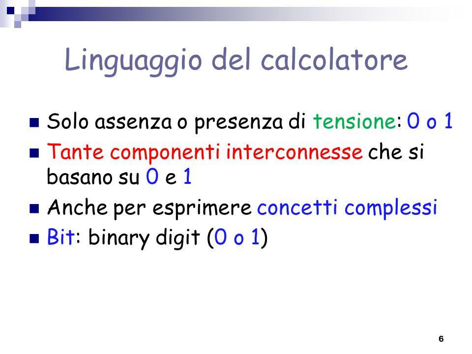 Linguaggio del calcolatore
