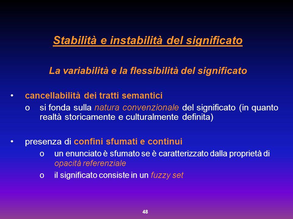 Stabilità e instabilità del significato