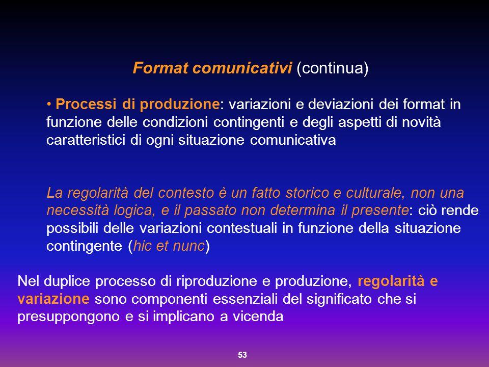 Format comunicativi (continua)