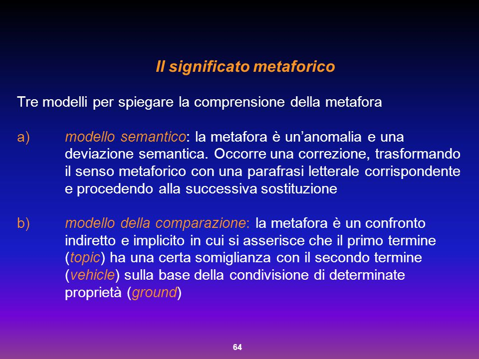 Il significato metaforico