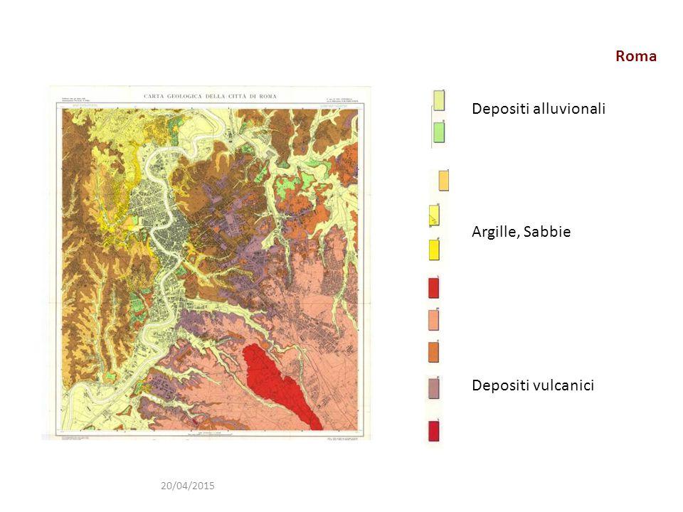 Roma Depositi alluvionali Argille, Sabbie Depositi vulcanici