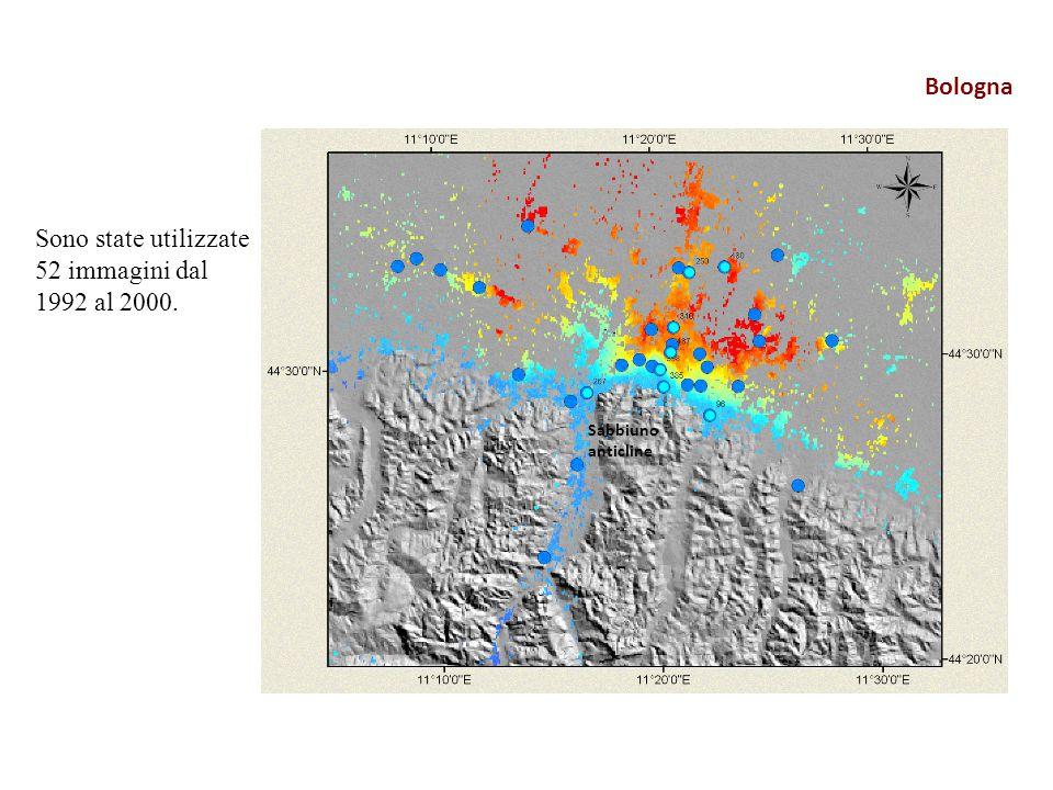 Bologna Sono state utilizzate 52 immagini dal 1992 al 2000. Sabbiuno