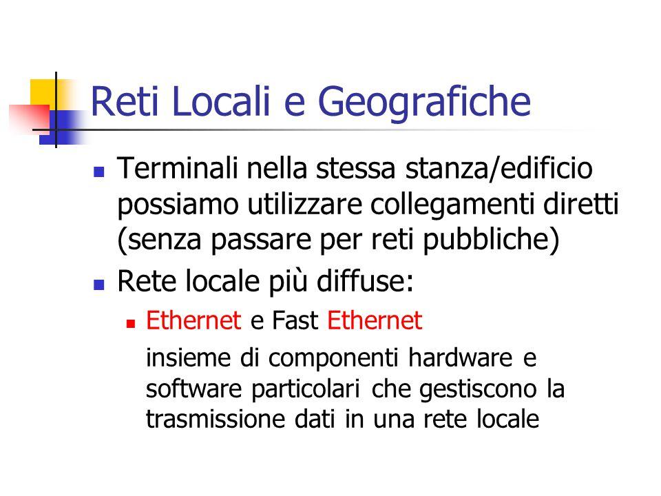 Reti Locali e Geografiche