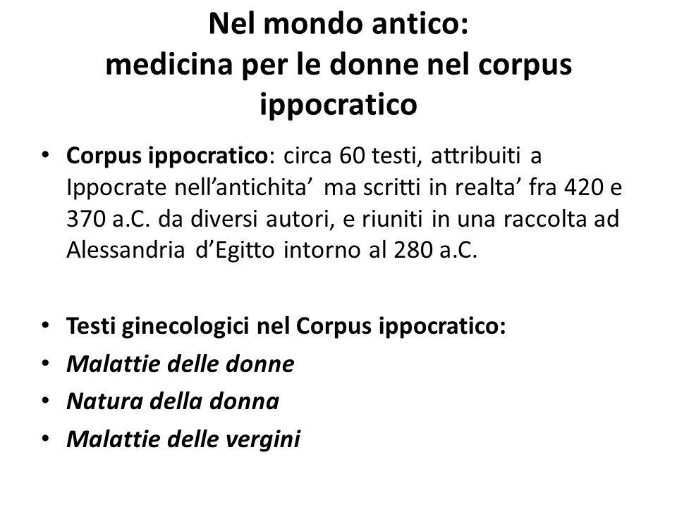 Nel mondo antico: medicina per le donne nel corpus ippocratico