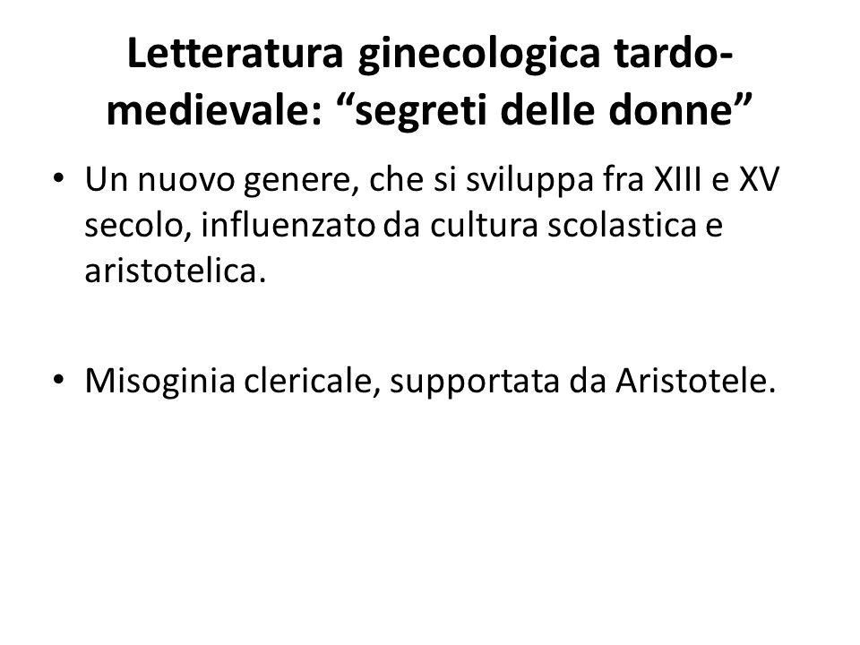 Letteratura ginecologica tardo-medievale: segreti delle donne