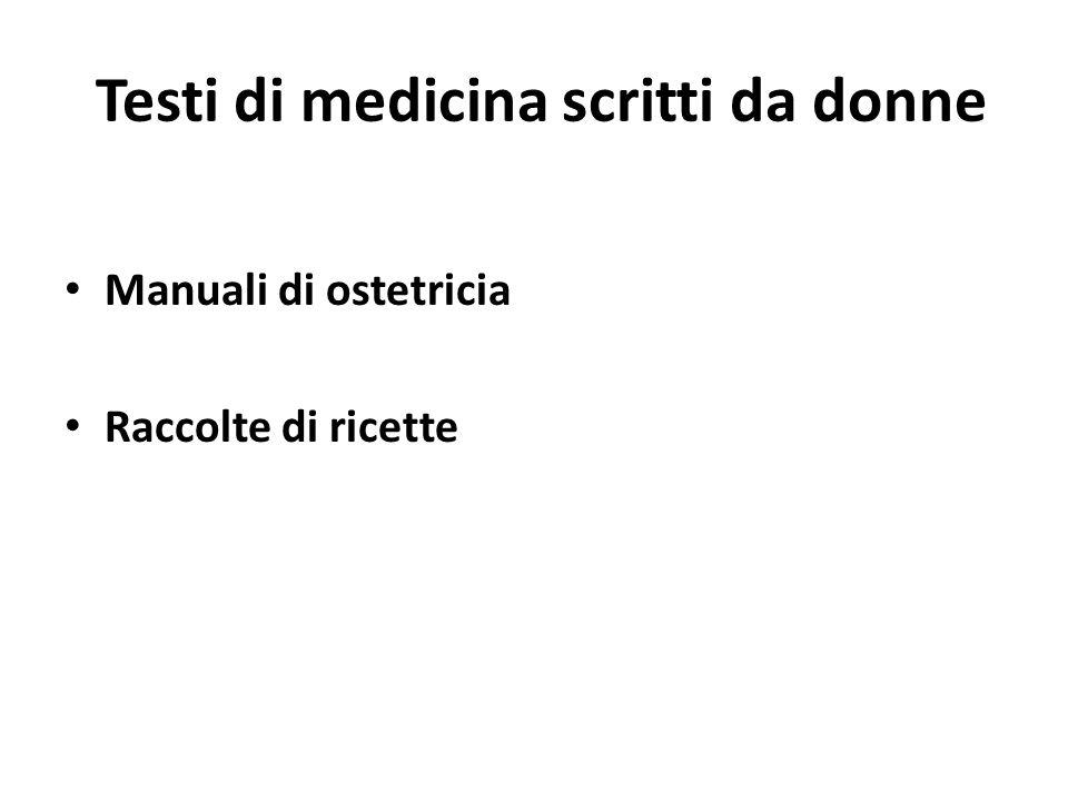 Testi di medicina scritti da donne