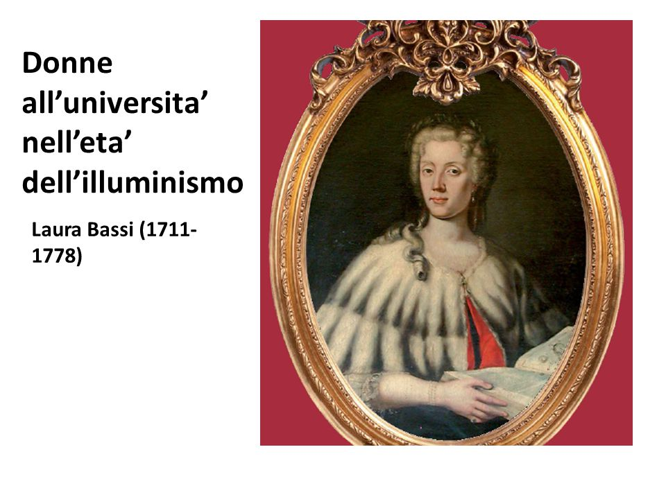 Donne all'universita' nell'eta' dell'illuminismo