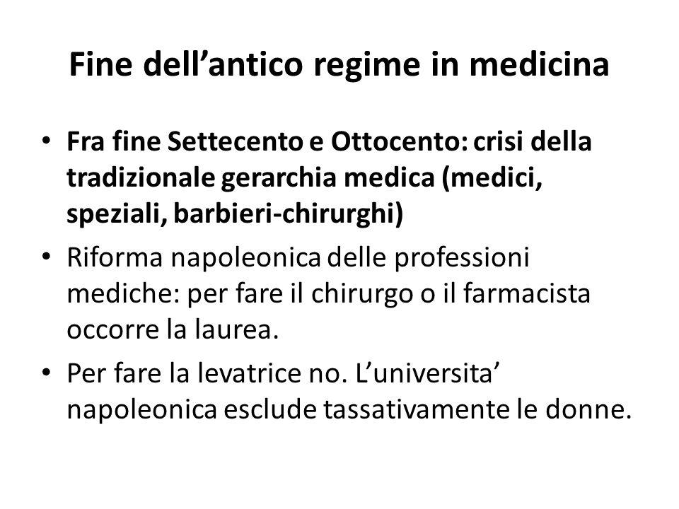 Fine dell'antico regime in medicina