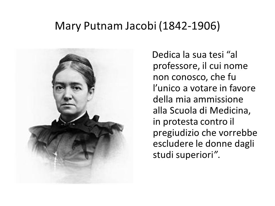 Mary Putnam Jacobi (1842-1906)