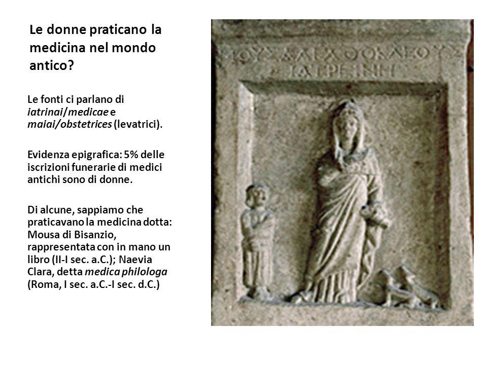 Le donne praticano la medicina nel mondo antico