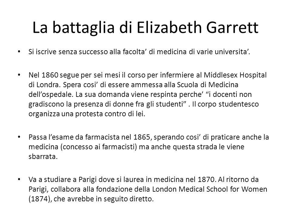 La battaglia di Elizabeth Garrett