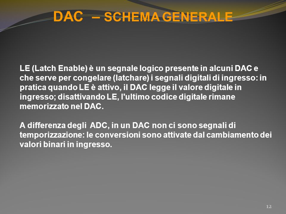 DAC – SCHEMA GENERALE