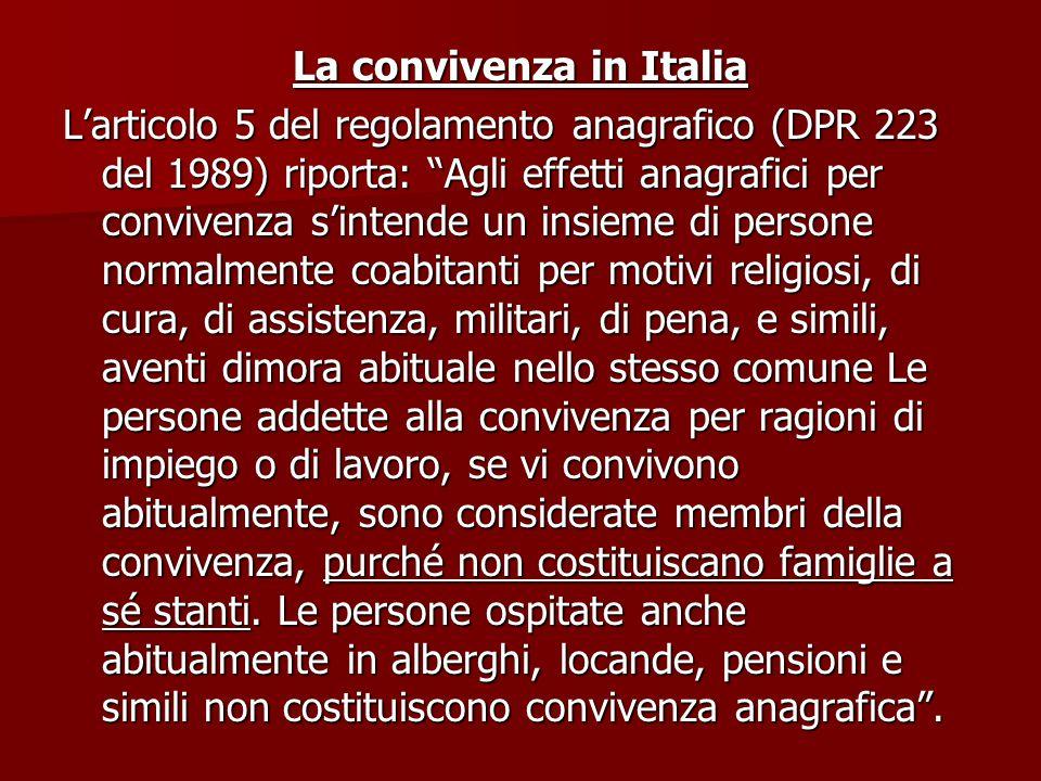 La convivenza in Italia
