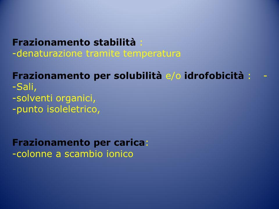 Frazionamento stabilità :
