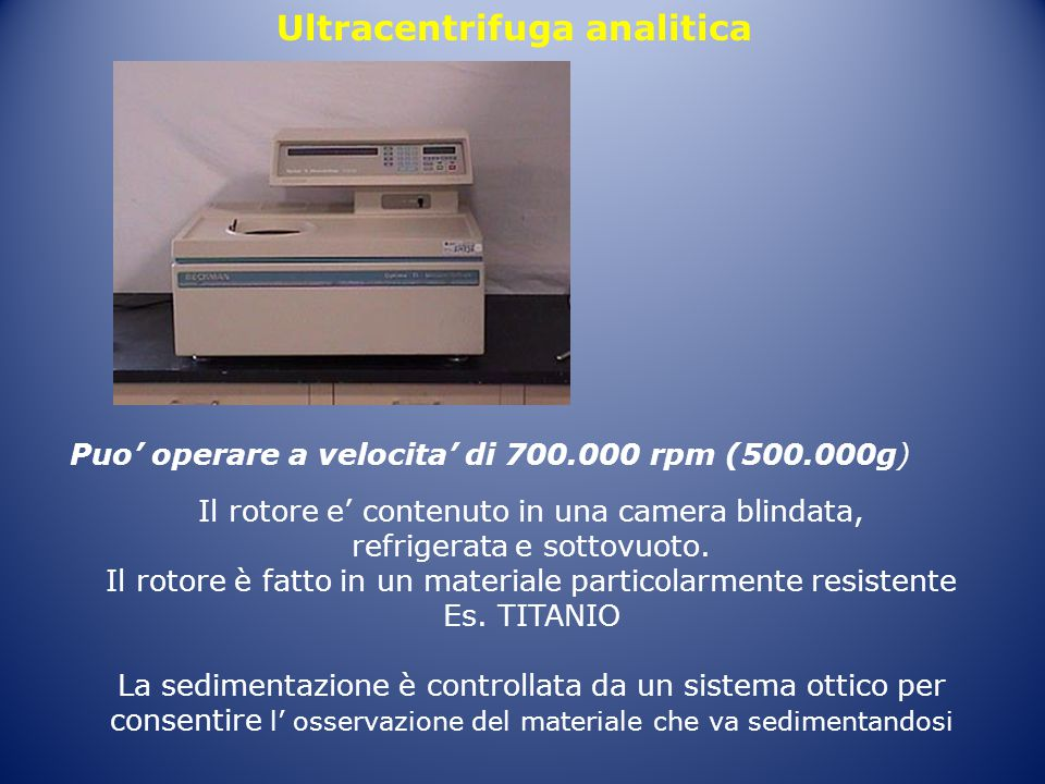 Ultracentrifuga analitica