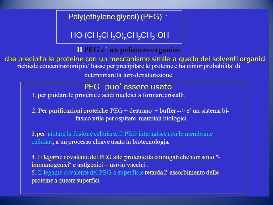Poly(ethylene glycol) (PEG) :