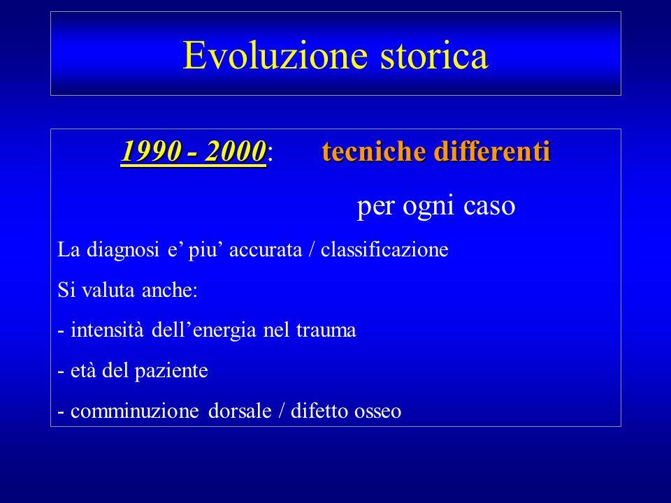 1990 - 2000: tecniche differenti