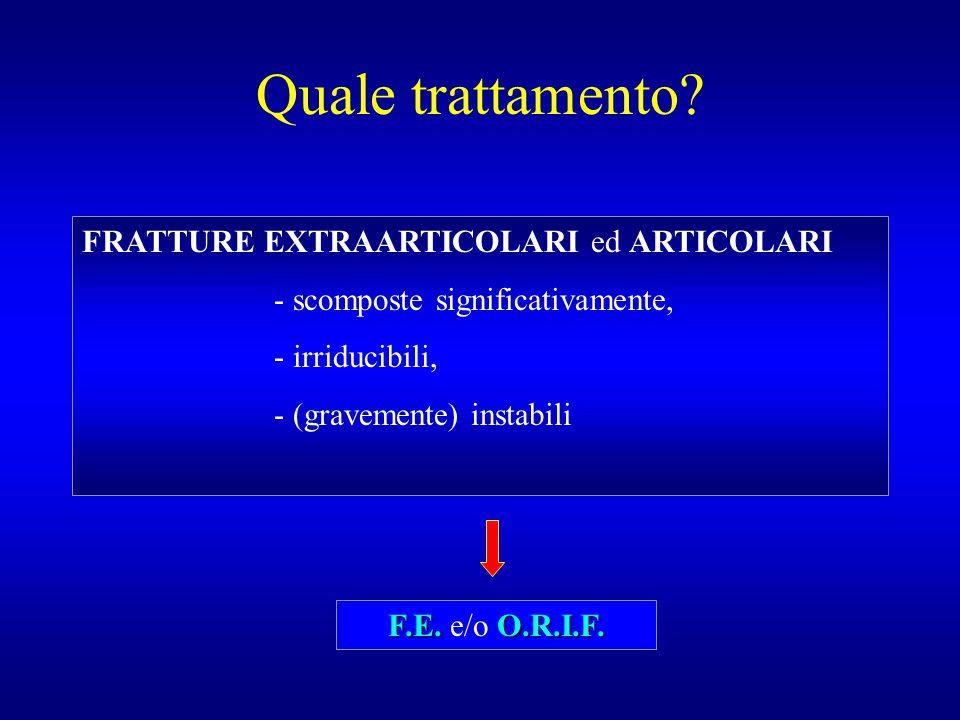 Quale trattamento FRATTURE EXTRAARTICOLARI ed ARTICOLARI