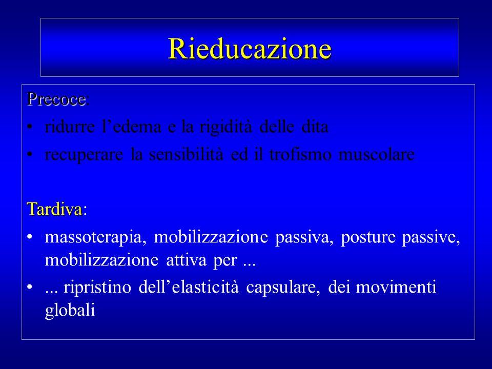 Rieducazione Precoce: ridurre l'edema e la rigidità delle dita