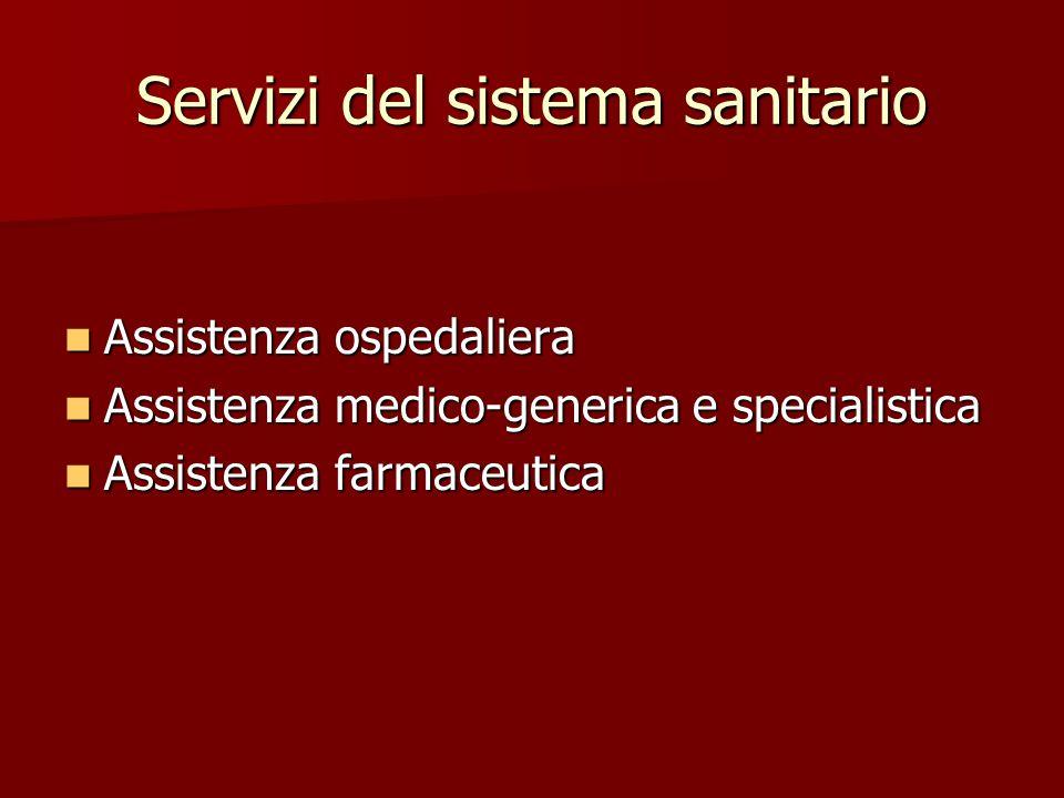 Servizi del sistema sanitario