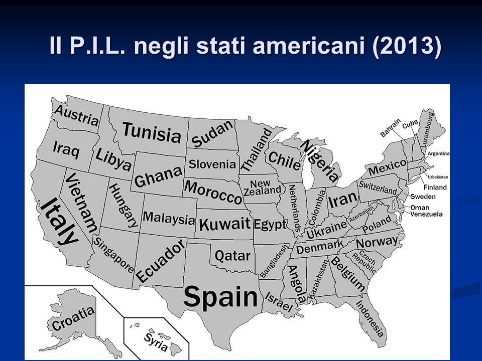 Il P.I.L. negli stati americani (2013)
