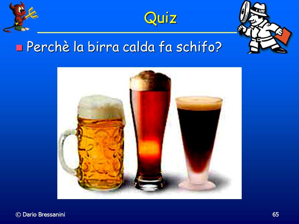 Quiz Perchè la birra calda fa schifo © Dario Bressanini