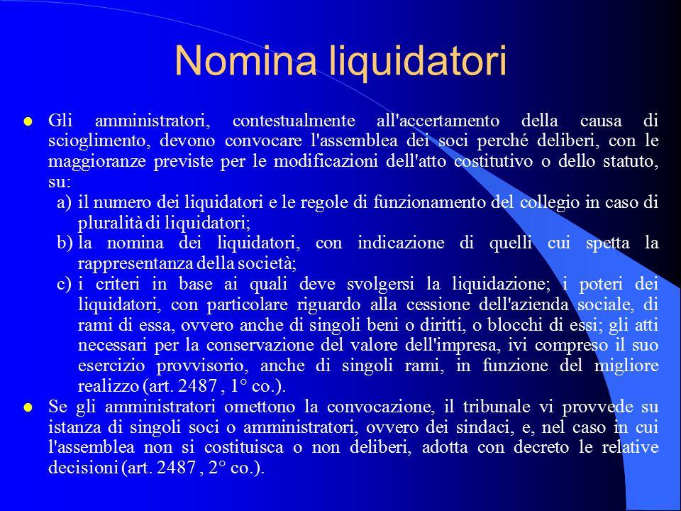Nomina liquidatori